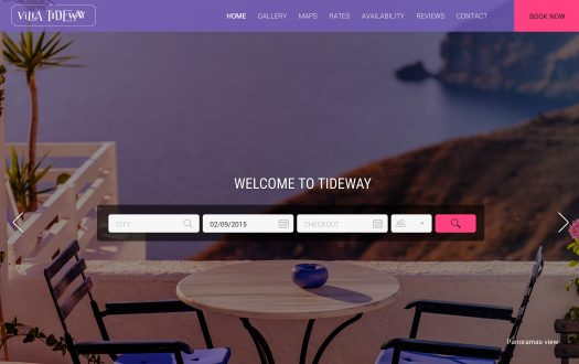 Tideway Purple Website Template