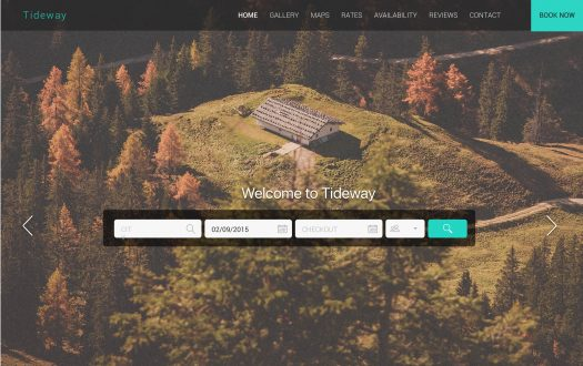 Tideway Mountain Retreat Web Template