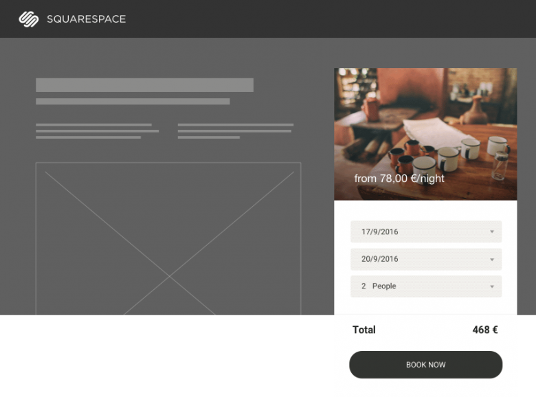 squarespace booking system