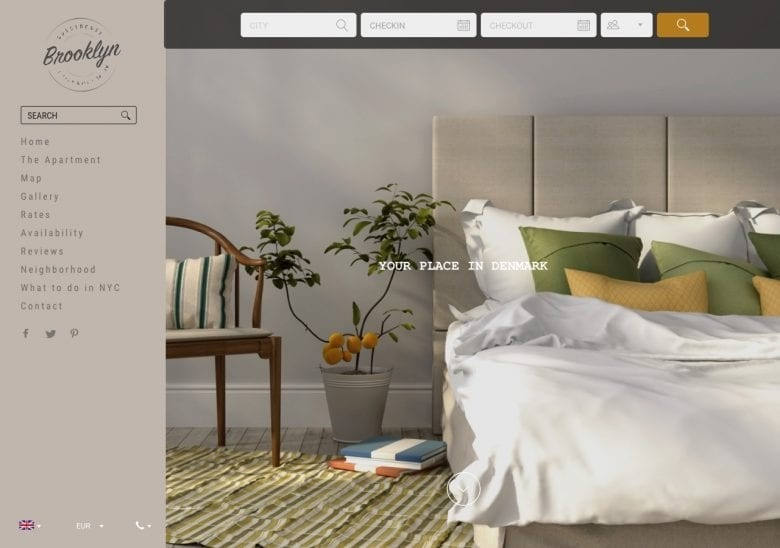 Elegant B&B Website Templates
